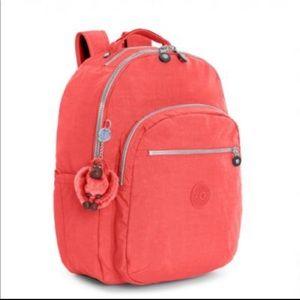 Kipling Seoul Medium Backpack Papaya Orange